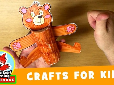 Happy Bear Craft for Kids | Maple Leaf Learning Playhouse