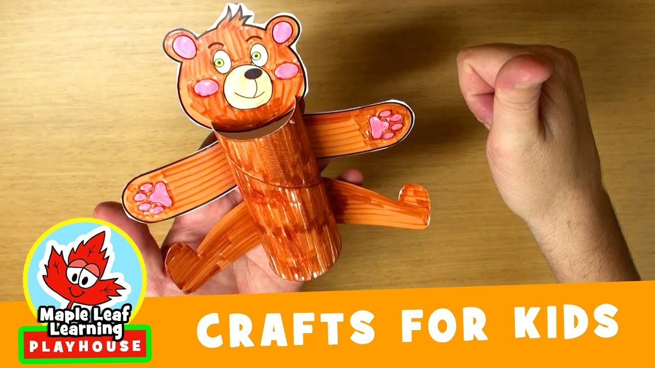 Happy Bear Craft for Kids   Maple Leaf Learning Playhouse