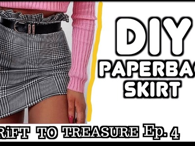 How to Make a Gingham Skirt with Paperbag Ruffle Waist DIY || Thrift to Treasure Ep. 4
