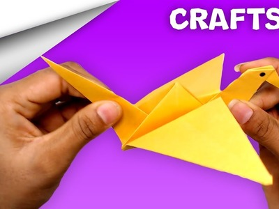 How to make Flapping Bird ????️ Paper craft | DIY crafts | minute crafts for kids | easy origami