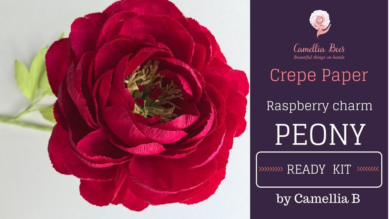 How To Make Paper Flower Easy Step By Step Paper Peony Flower From
