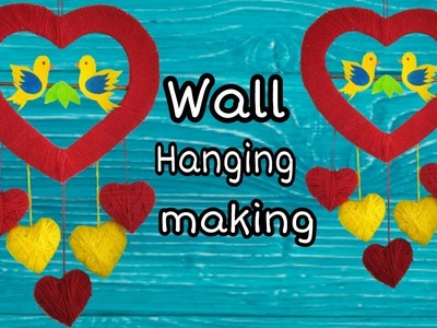 How to make wall hanging.  Beautiful Wall Hanging Making at Home | DIY Room Decor ||ArtHolic KM