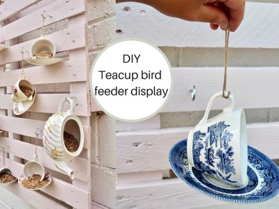 How to make your own Diy teacup bird feeders