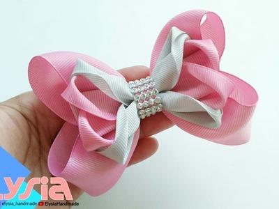 Laço Kanzashi Boutique ???? Ribbon Bow ???? DIY by Elysia Handmade
