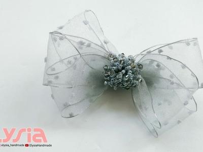 Laço Organza Dottie ???? Ribbon Bow ???? DIY by Elysia Handmade