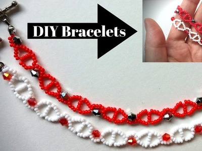 ❤️Lovely bracelets.❤️ Learn beading by making easy bracelets ❤️ DIY beaded bracelets