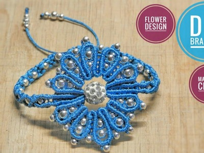 Macrame Bracelet Tutorial | Flower Pattern DIY