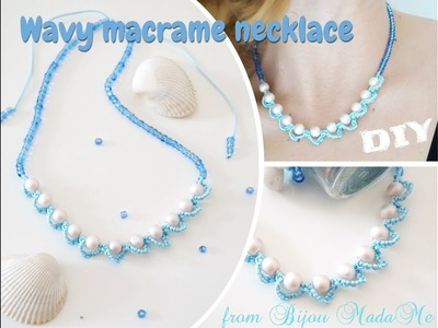 Macrame for beginners. Fast macrame necklace with beads. DIY macrame jewelry & crafts.