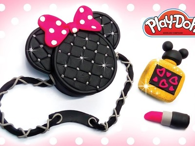 Minnie Mouse Fashion Set. Making Play Doh Disney Stuff DIY for Kids. Learn Colors. Educational Video