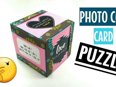 Photo Card Puzzle Cube - DIY ORIGAMI TUTORIAL - 915