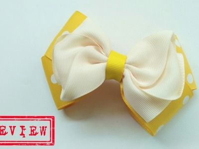 [PREVIEW] laço Saskia ???? Ribbon Bow ???? DIY by Elysia Handmade