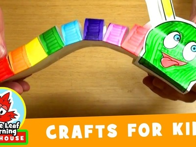 Rainbow Caterpillar Craft for Kids | Maple Leaf Learning Playhouse
