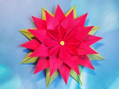 Simple Paper Flower for Wall Room Decor, Greeting Cards. DIY Making Tutorial