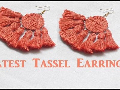 Thread tassel earrings.How to make tassel earrings at home.DIY.Tutorial.Creation&you