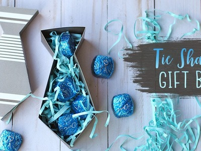 Tie Shaped Gift Box Tutorial (Paper) For Father's Day  ???? DIY Gift Boxes