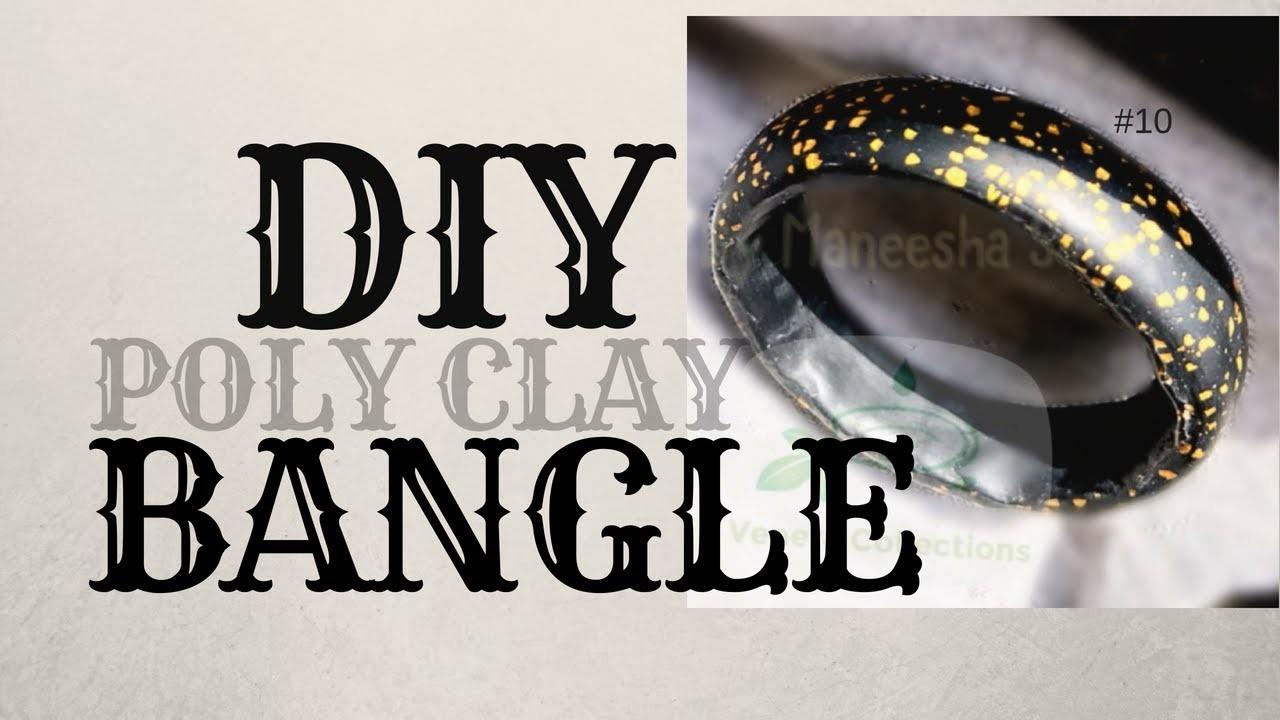 Tutorial - How to Make Polymer Clay Crackle Effect Bangle Bracelet | DIY