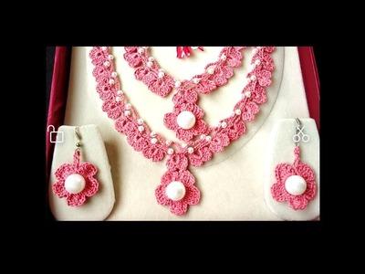 216-Crochet#32, Beautiful crochet necklace with earrings(Hindi.Urdu)