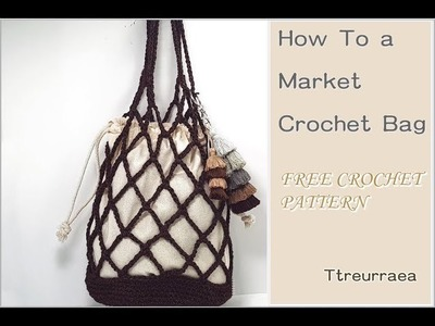 Crochet Bag.How To a Crochet Market  bag(English subtitles provided