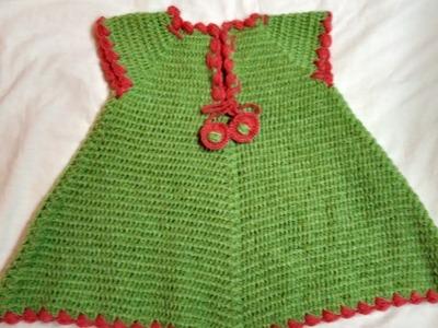 Crochet beautiful A shape baby frok