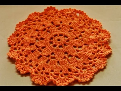 Crochet Doily Placemat Part 2 of 2-Crochet Table Placemat-How to crochet a round placemat