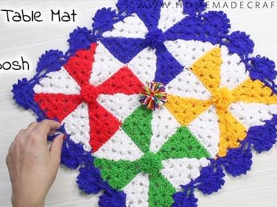[Crochet] How to make a Thalposh. Table Mat   थालपोश. टेबल मैट कैसे बनाएं - by Arti Singh