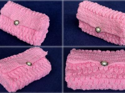 CROCHET How to make PURSE || Crochet Super easy wallet || LEARN CROCHET