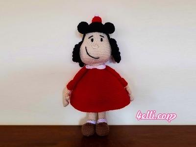 Crochet: Little Lulu Amigurumi - Left Hand Tutorial (EN)