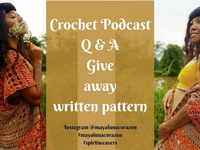 Crochet podcast.Instagram BEST photo editing apps for android.Give Away crochet written pattern