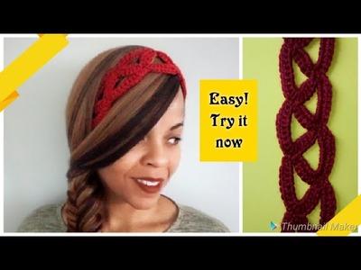 ⭐Crochet Summer Headband⭐ Day 4 Scrap Yarn Crochet Projects