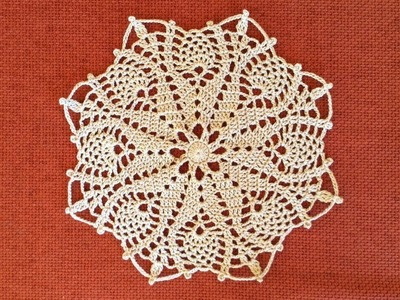 Crochet Tulip Flower Doily Tutorial