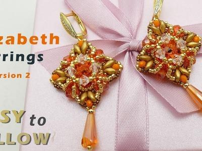 DIY Beautiful earrings with 12 mm rivolis tutorial