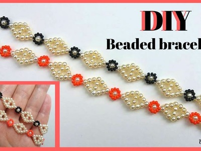 Diy gorgeus beaded bracelets.  Pattern for beginners ????????????