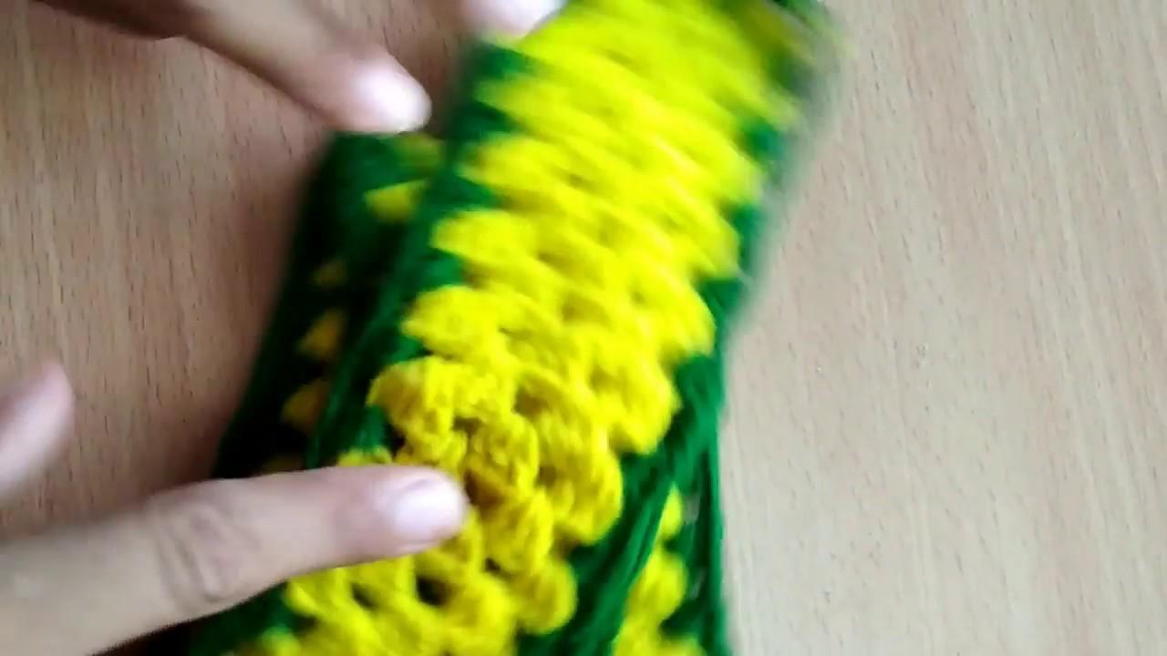 Diy - How to Make A Woolen crochet Toran Patti  || Toran from Woolen
