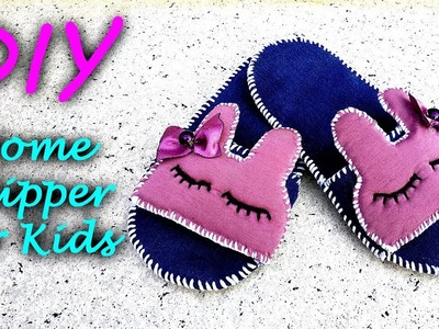 DIY, How To Make Home Slippers For Kids With Waste Clothes    ساخت دمپایی کودکانه از لباس ها کهنه