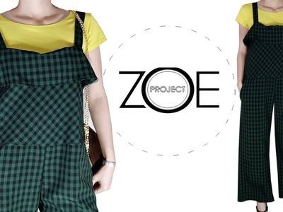 DIY sewing jumsuit shoulder strap Zoe diy