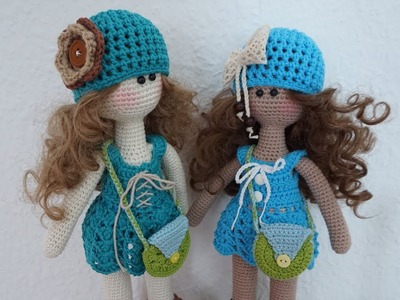 Doll dress crochet tutorial. doll outfit idea