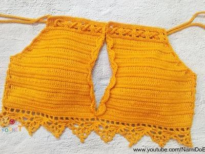 Easy Crochet for Summer: Crochet Halter Top #07