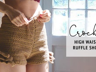 HIGH WAISTED CROCHET SHORTS TUTORIAL