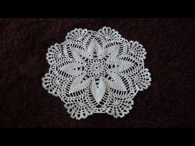 How to Crochet a Flower Doily Pattern #747│by ThePatternFamily