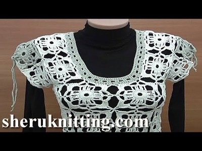 How to Crochet a Simple Womens Vest Tutorial 24 Part 2 of 2