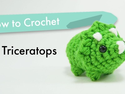 How to Crochet a Triceratops Dinosaur