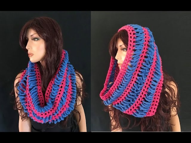 How to Crochet Chain Cowl.Neckwarmer Pattern #742│by ThePatternFamily