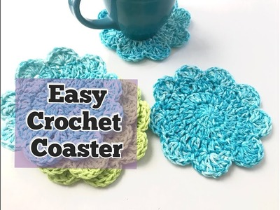 How to Crochet Easy Coaster (5 inches)