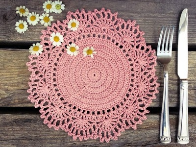 How To Crochet Easy Doily Placemat