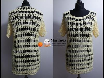 How to crochet easy lemon top tunic for beginners all sizes