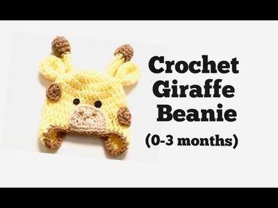 How to Crochet Giraffe Beanie (0-3 months)