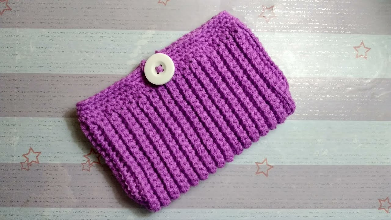 How to Crochet Phone Pouch with Rib Stitch