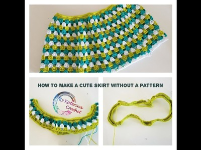 How to make a cute skirt without a pattern