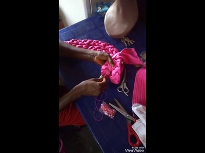 How to make braided Auto gele part 4