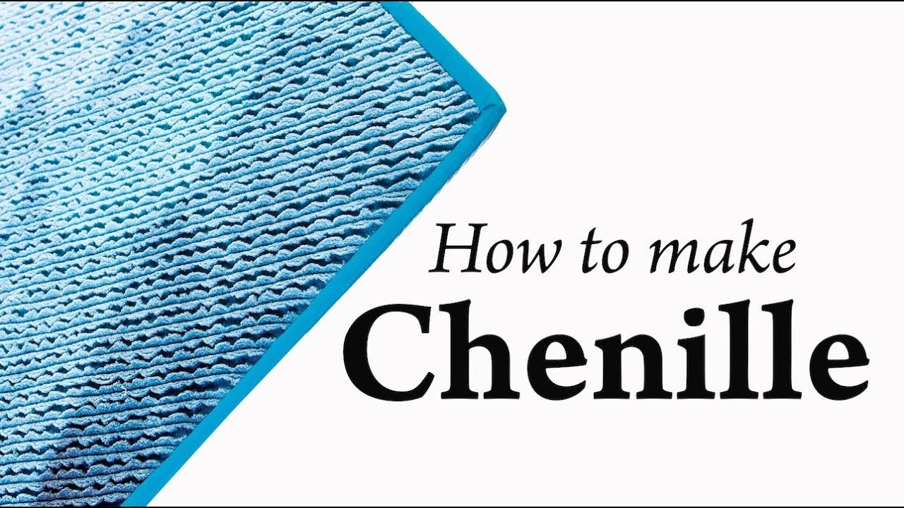 How to Make Chenille with FREE Chenilled Panel Rug Pattern